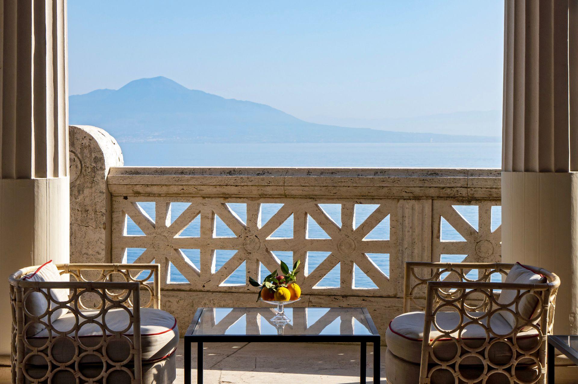 Villa pompeiana, weddings and event, sea view terrace, Bellevue Syrene Sorrento.
